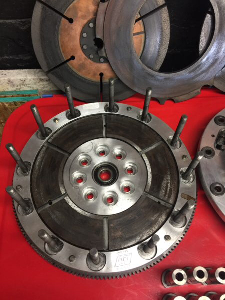 Tractor Puller Clutches : Aft quot hemi stand finger dual disc clutch top fuel